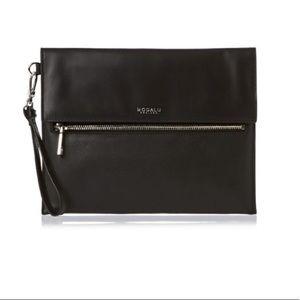 MODALU ENGLAND | black leather clutch wristlet bag
